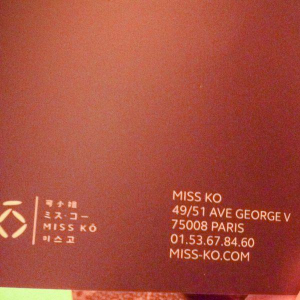 Miss Ko Restaurant Paris France top travel guide russo styles rosebud143 rose russo